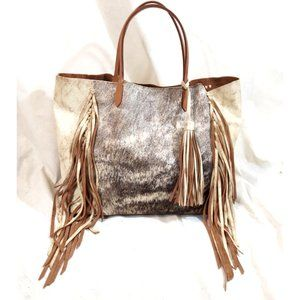 ALA PILAR One Of A Kind Cowhide Leather Tote Bag